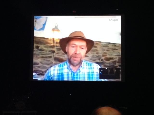 James Hansen på videolänk från sin lada i USA